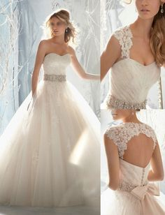 Wedding Dresses: New White/Ivory Lace Wedding Dress Bridal Gown Custom Size 2 4 6 8 10 12 +++ BUY IT NOW ONLY: $105.0