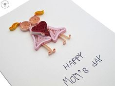 SALE Mothers Day Happy Mother's Day card by QuillingWonderland
