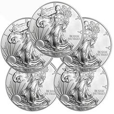 2015 American Eagle Silver 5 Coins $1 Brilliant Uncirculated US Mint