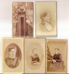 5 vintage CDV photo lot Woman Victorian door americathebeautiful, $4,50