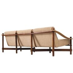 Michel Arnoult Sofa in Rosewood and Leather | 1stdibs.com