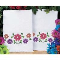 Craftways® Posy Parade Terry Guest Towels, Set of 2 Stamped Embroidery Kit
