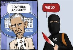 U.S. Vs. ISIS | Sep/4/14 Jeff Darcy - The Cleveland Plain Dealer - Obama ISIS Strategy - English - Obama ISIS Strategy