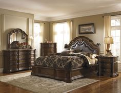 Courtland California King Bed | Pulaski | Home Gallery Stores
