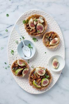 Aran Goyoaga's Wild Mushroom, Taleggio  Fig Tarts