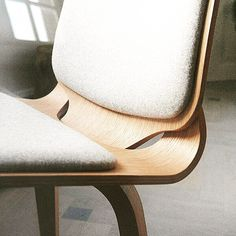 @danerka's Viggo #chair consists of two separate wooden shells combined to give a sublime comfort and connected with a single brass bolt which contribute to the chairs honest and contemporary #design language. #archiproducts #danerka