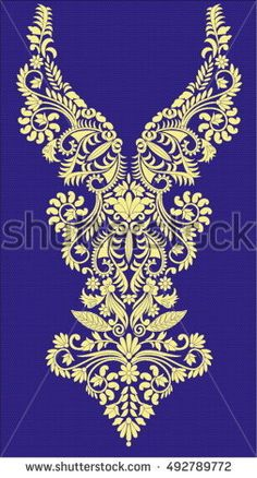 Discover thousands of images about Hungarian folk art Hand Embroidery Design Patterns, Gold Embroidery, Hand Embroidery Stitches, Embroidery Fashion, Dress Design Drawing, Dress Design Sketches, Folk Art Flowers, Neckline Designs, Stencil Painting