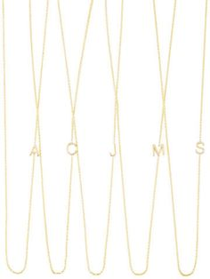 85197edaccd30 Maya Brenner Designs 14k Yellow Gold Mini Letter Necklace