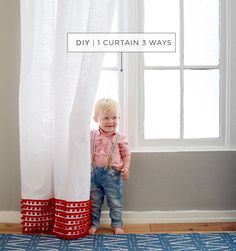 DIY: 1 Curtain 3 Ways