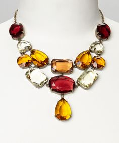 Take a look at this Topaz & Red Lucite Necklace on zulily today!