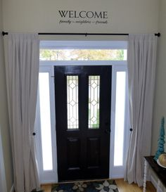 Home Decorating... Entryway Drapes