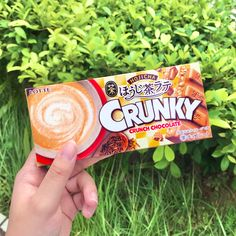 💖 Did you know that Crunky has been around in Japan since 1974? 😍 Lotte continuously comes out with new limited-edition flavors to try ever since. 😋 A definitely must- try choco bar from Japan Candy Store! 🍫⁠ Japanese Desserts, Japanese Snacks, Japanese Chocolate, Sugar Bread, Candy Store, Vanilla Ice Cream, Latte, Snack Recipes, Bar