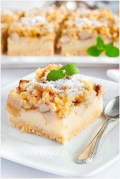 French Apple Tart, I Want To Eat, Sweet Desserts, Yummy Cakes, No Bake Cake, Cake Recipes, Delish, Bakery, Cheesecake