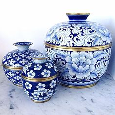 Trendy Ideas For Bedroom Blue And White Ginger Jars Blue And White China, Blue China, Love Blue, Keramik Vase, Blue Pottery, Chinoiserie Chic, Blue Bedroom, Bedroom Sets, Ginger Jars