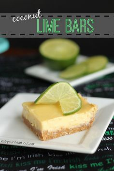 Coconut Lime Bars from @stephiecooks