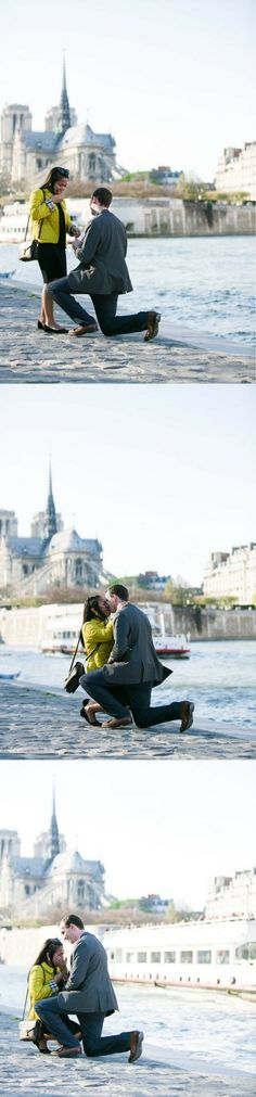 He surprised her with the most perfect proposal on their trip to Paris, and we're in love!
