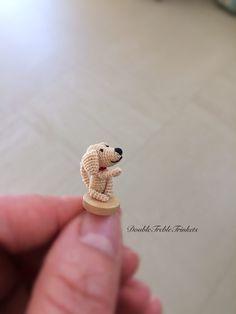 Tiny crochet dog free pattern