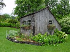 Rustic garden shed style inside out rustic shed rustic garden shed Rustic Gardens, Farm Gardens, Outdoor Gardens, Garden Buildings, Garden Structures, Shed Design, Garden Design, Rustic Shed, Greenhouse Shed