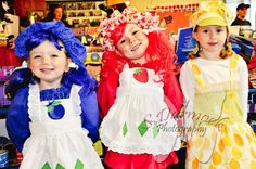 Strawberry Shortcake costumes for the girls