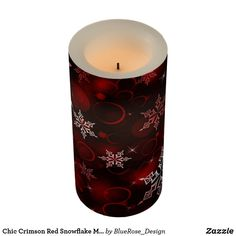 Chic Crimson Red Snowflake Motif Flameless Candle Holiday Cards, Christmas Cards, Christmas Decorations, Flameless Candles, Pillar Candles, Candle Set, Christmas Items, Christmas Card Holders, Hand Sanitizer