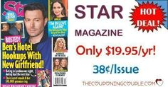 What a deal! Keep up on all the gossip and entertainment news! Grab Star Magazine for only $19.95 year! That is only $0.38 per issue!  Click the link below to get all of the details ► http://www.thecouponingcouple.com/star-magazine/ #Coupons #Couponing #CouponCommunity  Visit us at http://www.thecouponingcouple.com for more great posts!