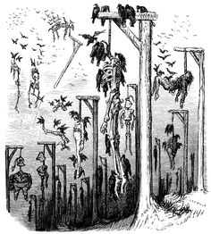 The amphitheater of dissection. Gustave Doré illustration for Les contes drolatiques (Droll Stories), 1881. Another one from the site, Old Book Illustrations.