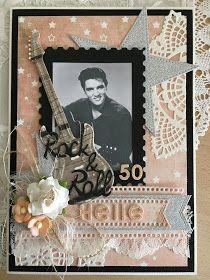 Jeg blogger hos Riddersholm Design i dag. Jeg har lavet dette kort til en Elvis fan, der er fyldt 50 år. Jeg synes, det var oplagt at ...