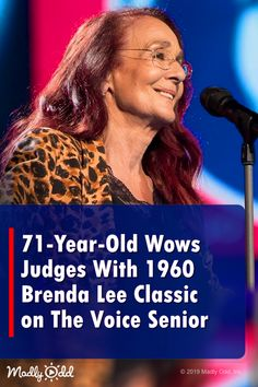'The Voice Senior' wows with Brenda Lee classic. Music Sing, Songs To Sing, Live Music, Good Music, Old Singers, Famous Singers, Old Country Music, Country Music Artists, The Voice Of Holland