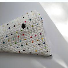 Rainbow Quilt Modern quilt White Quilt by TwiggyandOpal on Etsy