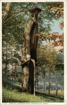 Harlow's Wooden Man Marquette Michigan