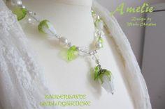 COLLIER / Kette Rosen weiß Brautschmuck edel Lampwork | Etsy Tassel Necklace, Drop Earrings, Jewelry, Art, Gifts For Birthday, Glass Beads, Jewellery Making, Jewlery, Jewelery