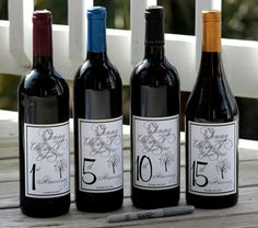 Wine Labels Wedding Guest Book wine labels WINE by SugarVineArt, $25.00