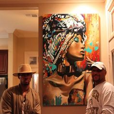 """One of my favorite collectors commissioned an """"African"""" theme piece. I know I can never give the proper justice to the strong women of that culture but I started with the elegance and beauty they embody and the strength they possess in which they raise their family's in such an aggressive environment. Exclusively at ijonmoody.com #artist #NewOrleansArt #art #Essence #Essence2016 by thejonmoody"""