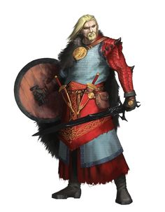 Male Human Dragonslayer Fighter - Pathfinder PFRPG DND D&D 3.5 5th ed d20 fantasy