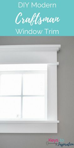 Tutorial for creating modern craftsman window trim. I love the clean crisp look of the white craftsman trim in this powder room! home diy DIY Modern Craftsman Window Trim Craftsman Window Trim, Interior Window Trim, Craftsman Windows And Doors, Craftsman Interior Doors, Craftsman Home Decor, Modern Craftsman, Craftsman Style, Home Upgrades, Style Artisanal