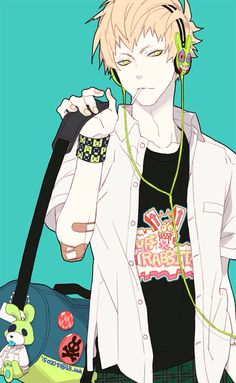 Noiz | DRAMAtical Murder - I absolutely want that wristband, and keychain.<<would totally waer this