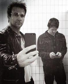 Norman Reedus & Sean Patrick Flannery. Bathroom shot?? Lol
