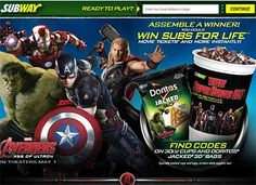 promo.subway.com – Subway Where Super Heroes Eat Instant Win Game. Subs For Life prize awarded as a $27,781 check. Get your Subway entry code at your local Subway Restaurant...