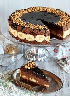 Tort czekoladowo-bananowy