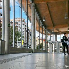 Estación de cercanías Zaragoza-Goya: desde el interior. #alfre_mm #edificios #estacion #zaragoza #zaragozaciudad #zgz.