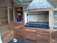 PERGOLAS Y QUINCHOS Outdoor Kitchen Design, Patio Design, Built In Braai, Fire Grill, Barbacoa, Backyard Patio, Bunk Beds, Home Art, Grilling
