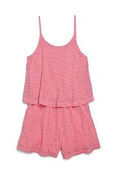 Ella Moss Girl | Girl's Lily Lace Romper | SAKS OFF 5th