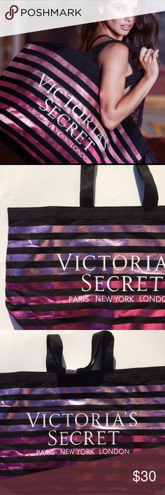NWOT Victoria's Secret Weekender Tote (Large) Never used (just came without tags) weekender tote from VS. Extra large and perfect for a weekend getaway! Comes with a small hidden pocket on the inside. Victoria's Secret Bags Totes