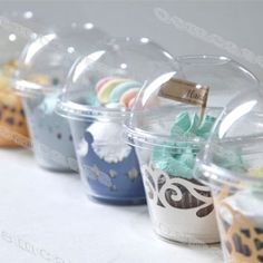 CLEAR-Plastic-To-Go-Containers-Cookie-Muffin-Cupcake-Liner-C001