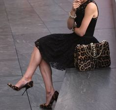 Black lace + leopard