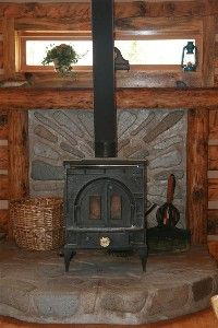 Vermont Castings wood burning stove for those chilly nights.