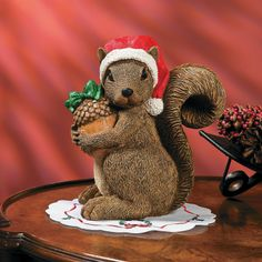 Christmas Squirrel - TerrysVillage.com