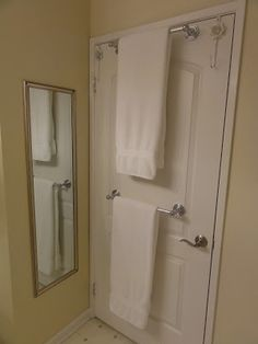 How To Mount A Towel Bar On A Hollow Core Door To Save On