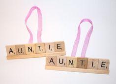 Christmas Ornament, Aunt, Aunt Ornament, Aunt Gift, Aunt Christmas, Auntie, Ornament, Auntie Gift,  Uncle, Uncle Gift, Ornament, Scrabble