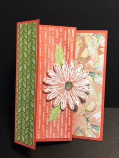My Creative Corner!: Daisy Delight, Birthday Card, Accordion Fold Technique, 2017-2018 Stampin' Up! Catalog, Rubber Stamping, Handmade Cards